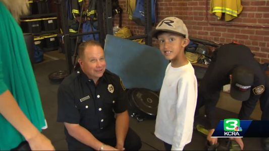 Boy surrendered at fire station meets Sac firefighter who took him in