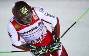 The Latest: Hirscher wins slalom, leads Austrian clean sweep