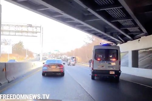 NYPD caravan heading back from DC sideswiped by hit-and-run driver