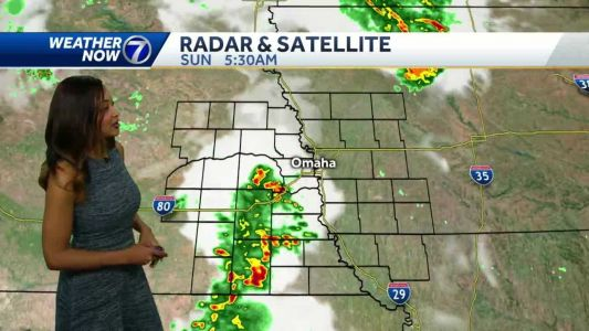 Storms early Sunday, hot and humid afternoon