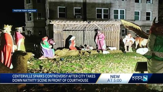 Controversy swirls around nativity scene moved from county courthouse