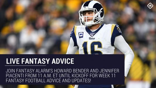 Live Week 11 Fantasy Football Advice: Injury updates, start 'em sit 'em, NFL DFS tips, more