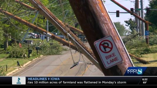 Derecho impact: Efforts to clear debris, restore power continue Wednesday