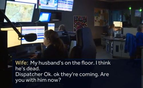 'I think he's dead': Woman saves husband's life with CPR in chilling 911 call