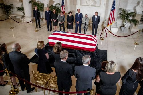 Retired Supreme Court Justice John Paul Stevens was remembered as a 'brilliant man' during ceremony