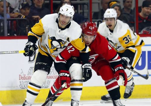 Penguins blow another late lead, lose to Hurricanes