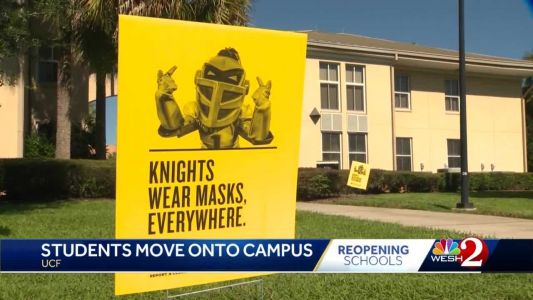 Students return to UCF campus amid coronavirus pandemic