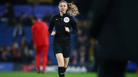 'Rattled by a female referee in shorts': Iranian state TV 'censors lineswoman's legs' during Premier League match