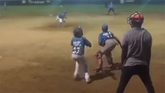 Ridiculous video shows young baseball player making jaw-dropping move