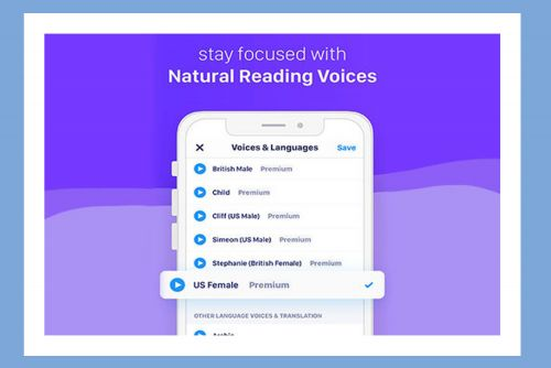 This app can read books, documents, articles, and webpages out loud