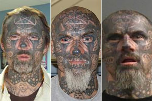 'World's scariest criminal' with face covered by tattoos charged for alleged rape