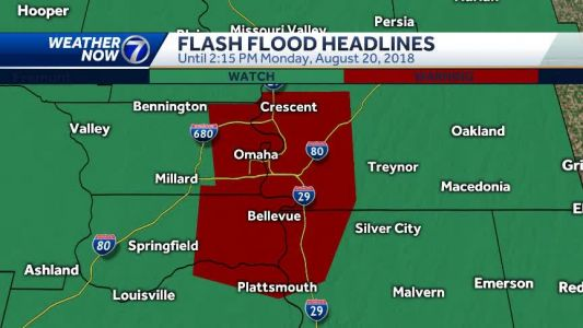 Heavy rain, flash flooding continue into Monday afternoon