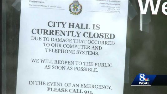 York City Hall remains closed after vandalism
