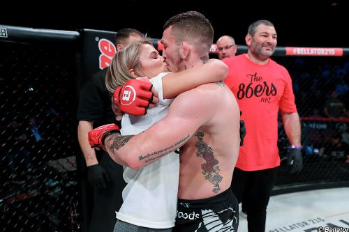 Austin Vanderford made a smart call during Bellator 215 fight week involving wife Paige VanZant