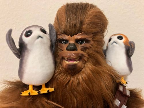 Every 'Star Wars' fan is going to want this Chewie and the Porgs toy at Comic-Con