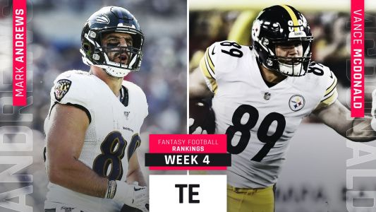 Week 4 Fantasy Football TE Rankings