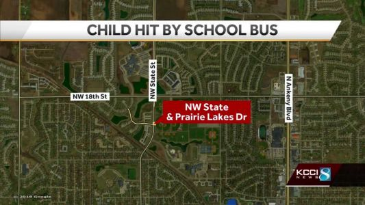 Child hit by school bus in Ankeny