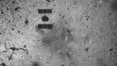 Japan Blasted a Crater on Asteroid Ryugu and Here's the Photo Proof