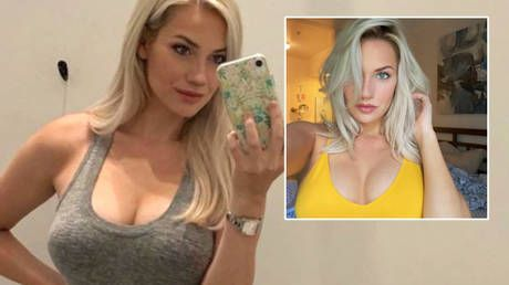 'Guys, it's not a build a bear workshop': Golfer Paige Spiranac hits out at social media trolls who claim her boobs are 'too big'