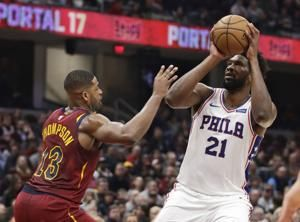Harris, Embiid lead 76ers to 114-95 rout of Cavaliers