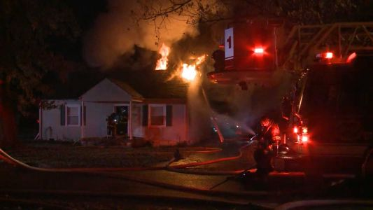 Firefighters battling house fire in New Albany