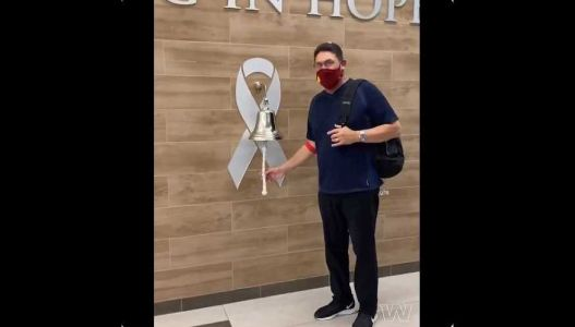 Video: WFT HC Ron Rivera Rings the Bell After Completing Cancer Treatment