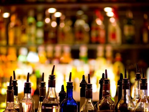 The alcohol brands that are typically the 'well' when you order at bars