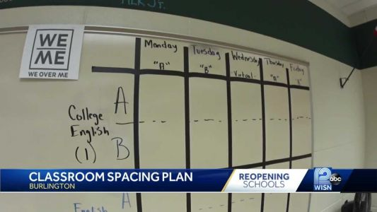 School district develops classroom spacing plan