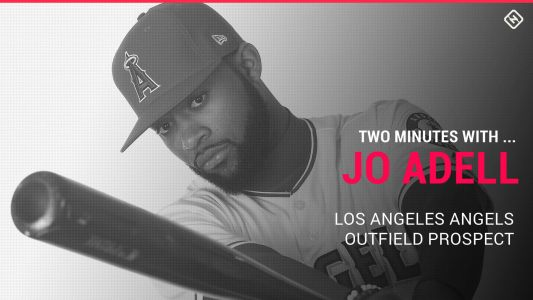 Angels prospect Jo Adell on his first homer, Pig Latin and getting head-butted in a bad place