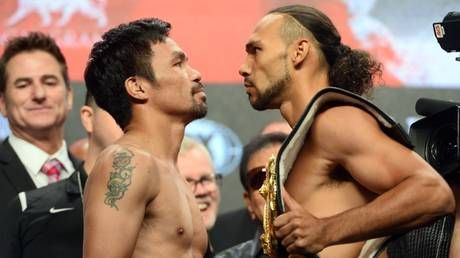 Pacquiao vs Thurman: Punters flock to the casinos to back Manny Pacquiao in Las Vegas title clash