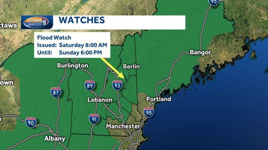 Potential exists for flooding in parts of NH this weekend