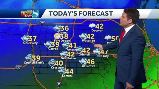 Temperatures dropping as clouds move out