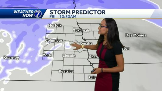 Cloudy, calm Thursday, snow moves in around lunchtime Friday