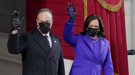 Why was purple significant at the inauguration?