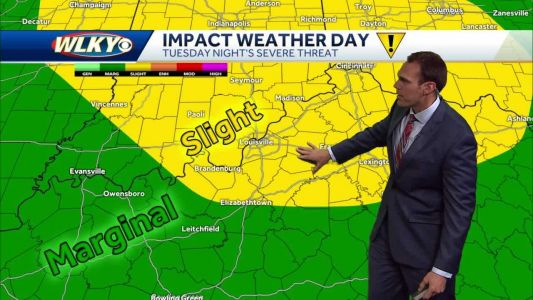 Warmer with storm chances ahead