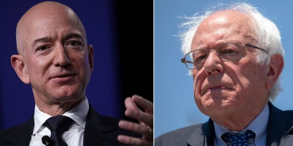 Bernie Sanders has received donations from more Amazon workers than Barack Obama over the past 14 years