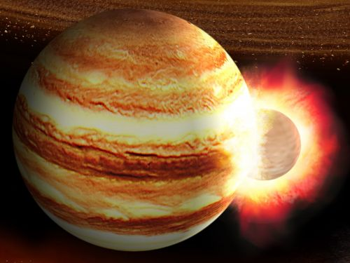 Jupiter got hit by a planet 10 times the mass of Earth billions of years ago, and its core is still reeling, a new study suggests