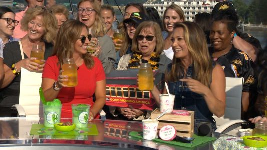 Cheers! A pickle juice toast with GMA's Ginger Zee, Ashley Dougherty