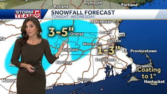 Video: Snow moves in after 4 p.m
