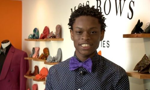 Bow tie business brings big-time success for young entrepreneur