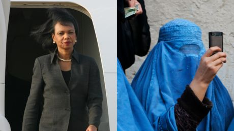 Condoleeza Rice wants the US to stay in Afghanistan, and this time it's for 'the women'