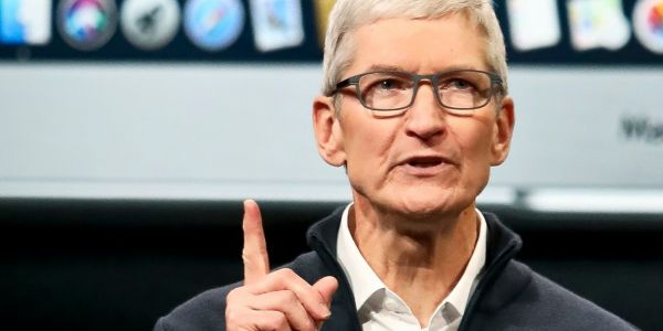 Tim Cook says that Apple donates $0 to political candidates and that he refuses to have a PAC because they 'shouldn't exist'