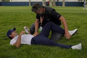 Koepka's hip, not the knee, causing a problem at the PGA