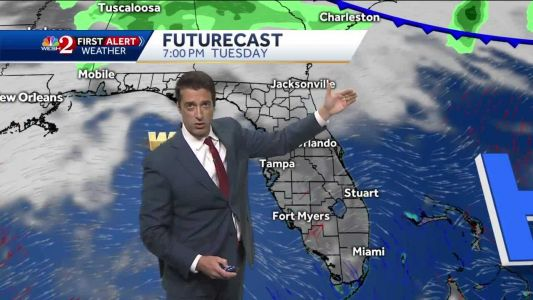 Warmer Saturday with showers Sunday