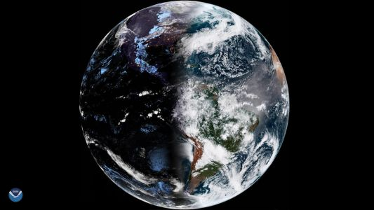 Day and Night Are Perfectly Balanced in Spring Equinox Photo Snapped from Space
