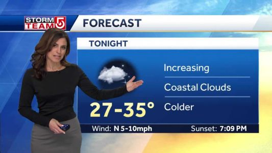 Video: Chilly night to end March; April begins dreary, wet