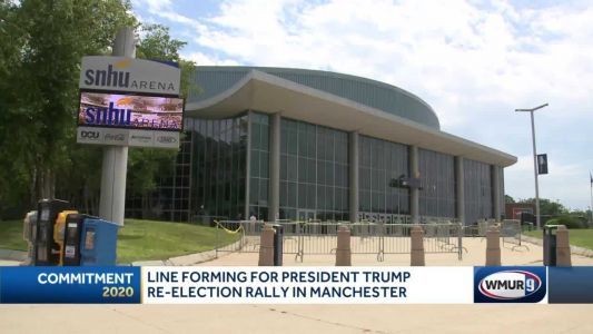 Preparations underway as lines begin for Trump rally in Manchester