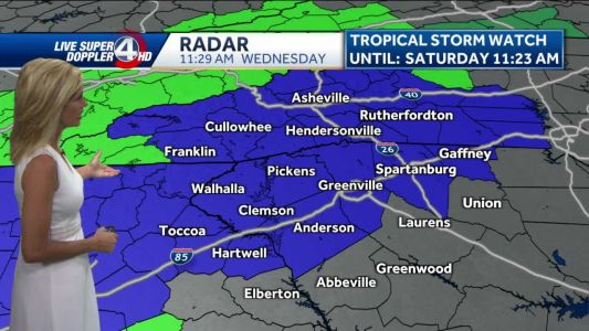 Videocast: Rain today, storms tomorrow