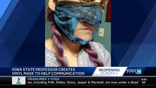 ISU professor's new mask design helps teachers, students communicate