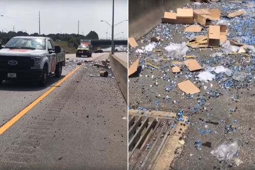 Gaming company truck spills thousands of dice onto highway, rolls a 756,000
